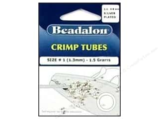 craft & hobbies: Beadalon Crimp Tubes 1.3 mm Silver Plated .05 oz.