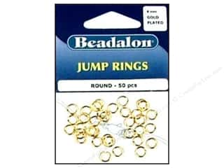 beading & jewelry making supplies: Beadalon Jump Rings 6 mm Gold 50 pc.