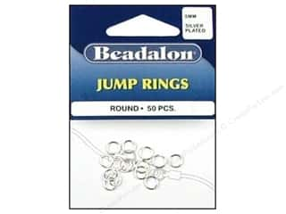 beading & jewelry making supplies: Beadalon Jump Rings 6 mm Silver 50 pc.