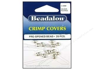 beading & jewelry making supplies: Beadalon Crimp Covers 4 mm Silver 20 pc.