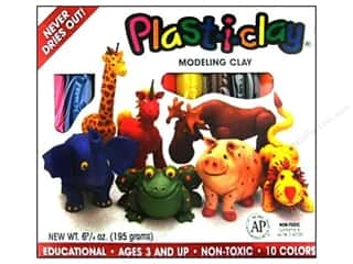 AMACO Plast-i-clay Modeling Clay Set 10 pc.