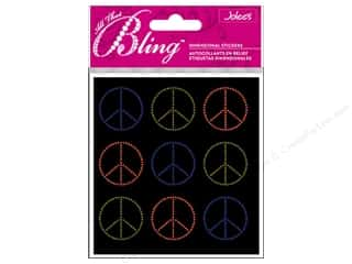 bling stickers: Jolee's Bling Stickers Peace Seals