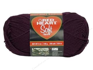 yarn & needlework: Red Heart Soft Yarn #3729 Grape 256 yd.
