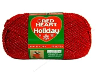 Red Heart Holiday Yarn 235 yd. #9040 Red/Silver