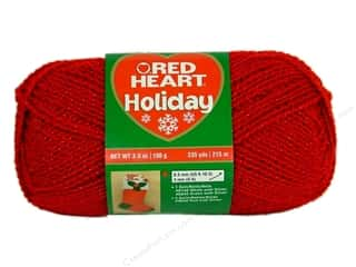 yarn & needlework: Red Heart Holiday Yarn 235 yd. #9090 Red/Red