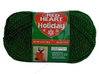 Red Heart Holiday Yarn #6040 Green/Silver 235 yd.