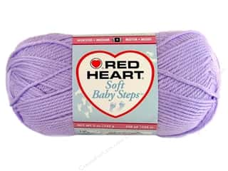 Clearance Red Heart Baby Clouds Yarn: Red Heart Soft Baby Steps Yarn #9590 Lavender 256 yd.