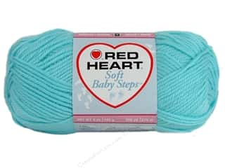 Clearance Red Heart Baby Clouds Yarn: Red Heart Soft Baby Steps Yarn #9505 Aqua 256 yd.
