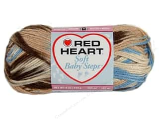 Clearance Red Heart Baby Clouds Yarn: Red Heart Soft Baby Steps Yarn #9935 Blue Earth 204 yd.