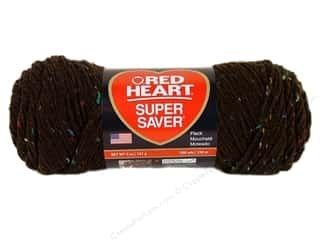 Red Heart Super Saver Yarn #4365 Coffee Fleck 260 yd.
