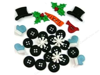 jesse james dress it up Christmas buttons: Jesse James Dress It Up Embellishments Christmas Collection Building a Snowman