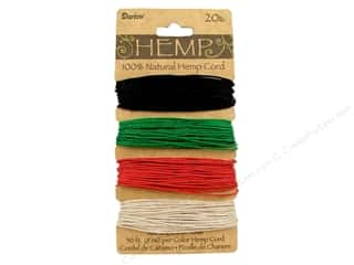 beading & jewelry making supplies: Darice Hemp Cord Set 4 pc. 20 lb. Primary
