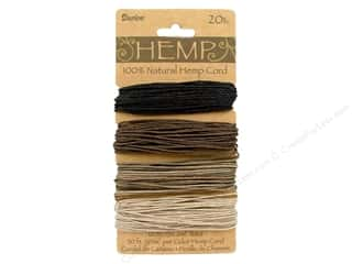beading & jewelry making supplies: Darice Hemp Cord Set 4 pc. 20 lb. Earthy Colors