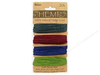 craft & hobbies: Darice Hemp Cord Set 4 pc. 20 lb. Earthy Dark Colors