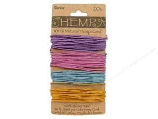 beading & jewelry making supplies: Darice Hemp Cord Set 4 pc. 20 lb. Pastels