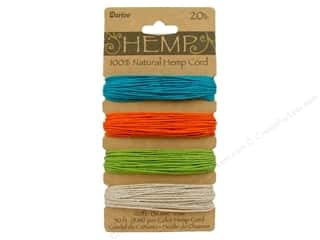 beading & jewelry making supplies: Darice Hemp Cord Set 4 pc. 20 lb. Brights