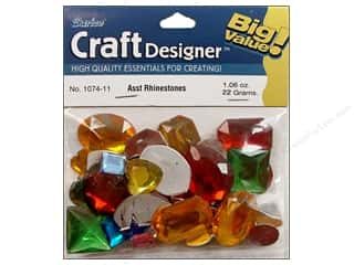 beading & jewelry making supplies: Darice Flat Back Rhinestones 30 gram Assorted