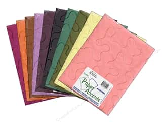 scrapbooking & paper crafts: Paper Accents Cardstock Variety Pack 8 1/2 x 11 in. Embroidered 10 pc.