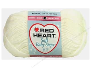 Clearance Red Heart Baby Clouds Yarn: Red Heart Soft Baby Steps Yarn #9600 White 256 yd.