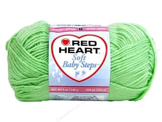 Clearance Red Heart Baby Clouds Yarn: Red Heart Soft Baby Steps Yarn #9620 Baby Green 256 yd.
