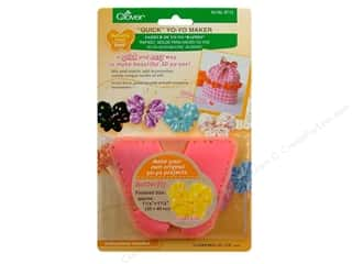 Quilting Supplies Clover: Clover Quick Yo-Yo Maker Butterfly 1 1/4 x 1 1/2 in. Small