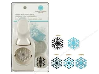 snowflake punch: Martha Stewart Stamp & Punch Polar