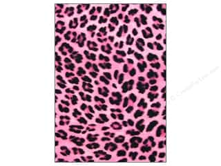 CPE: CPE Printed Felt 9 x 12 in. Cheetah Pink (12 sheets)