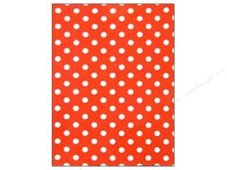 CPE: CPE Printed Felt 9 x 12 in. Polka Dot Red (12 sheets)