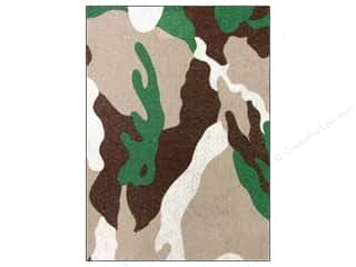 felt sheet: CPE Printed Felt 9 x 12 in. Camo Brown (12 sheets)