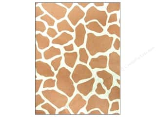 CPE: CPE Printed Felt 9 x 12 in. Giraffe Brown (12 sheets)
