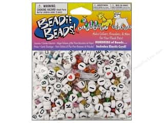 novelties: Darice Alphabet Bead Kit 300 pc. White