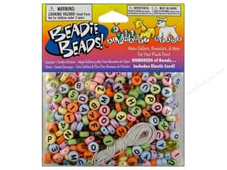 braided elastic': Darice Alphabet Bead Kit 300 pc. Pastel