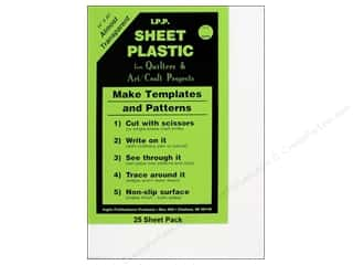 quilting notions: Inglis Sheet Plastic For Quilters 14 x 20 in. 25 pc. (25 sheets)
