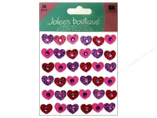 stickers: Jolee's Boutique Stickers Tween Gem Hearts