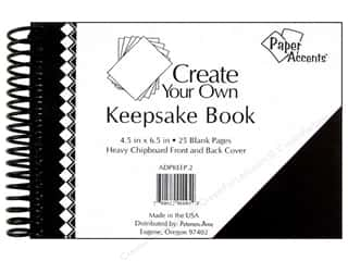 "Memory Albums / Scrapbooks / Photo Albums: Paper Accents Create Your Own Keepsake Book 6.5""x 4.5"" 25pg Black Cover"