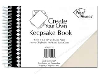 "Memory Albums / Scrapbooks / Photo Albums: Paper Accents Create Your Own Keepsake Book 6.5""x 4.5"" 25pg White Cover"