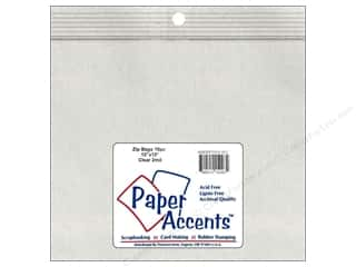 scrapbooking & paper crafts: Paper Accents 2 Mil Zip Bags 13 x 13 in. Clear 10 pc.