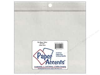 scrapbooking & paper crafts: Paper Accents 2 Mil Zip Bags 13 x 13 in. Clear 100 pc.