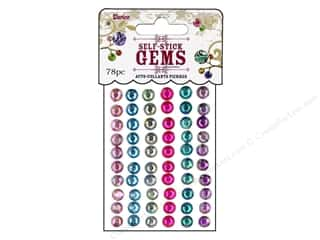stickers: Darice Self-Stick Gems 7 mm Round 78 pc. Periwinkle