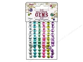 Darice Self-Stick Gems 7 mm Round 78 pc. Ice Cream