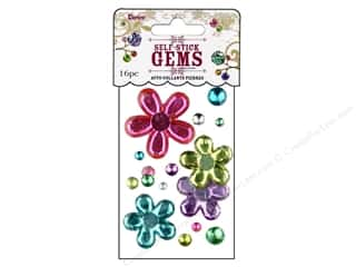 Darice Self-Stick Gems 38 mm Flowers Ice Cream 16 pc. Assorted Color