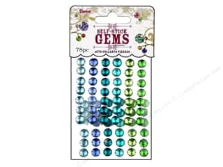 resin: Darice Self-Stick Gems 7 mm Round 78 pc. Go Green
