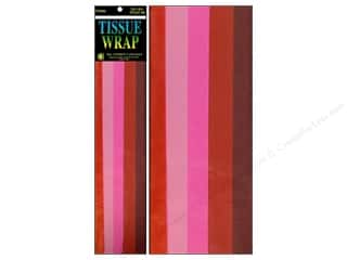 gifts & giftwrap: Tissue Paper by Cindus 20 x 20 in. Red Mix 10 pc.