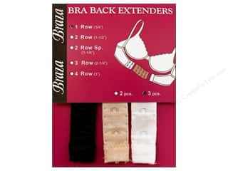 Braza Bra Extender 3/4 in. 1 Hook 3 pc. Assorted