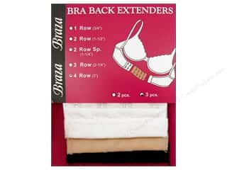 Braza Bra Extender 3 in. 4 Hook 3 pc. Assorted