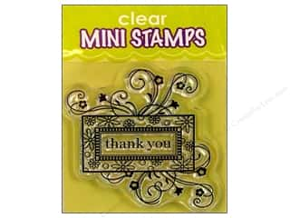 stamps: Inkadinkado InkadinkaClings Clear Stamp Mini Thank You Frame