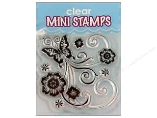 Inkadinkado InkadinkaClings Clear Stamp Mini Butterfly Scroll