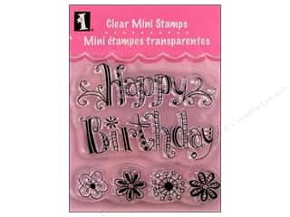 stamps: Inkadinkado InkadinkaClings Clear Stamp Mini Happy Birthday