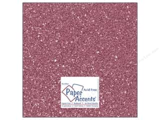 Paper Accents Cardstock 12 x 12 in. #5106 Glitz Silver/Rose Bud (25 sheets)