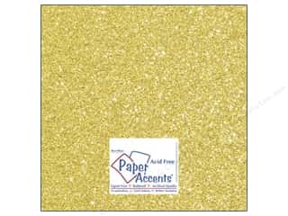 Cardstock 12 x 12 in. #5110 Glitz Silver/Daffodil by Paper Accents